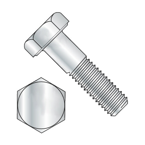 1-8 x 2 1/2 Hex Cap Screw Grade 2 Zinc-Bolt Demon
