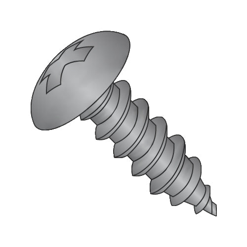 12-11 x 3/4 Phillips Full Contour Truss Self Tapping Screw Type A Fully Threaded Black Oxide-Bolt Demon