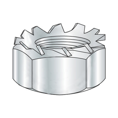 M8-1.25 Metric Class 8 K Lock Nut Zinc-Bolt Demon