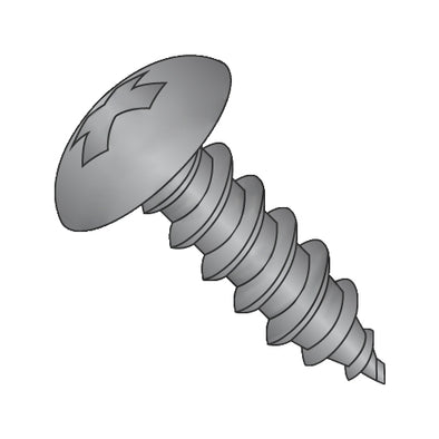10-12 x 1/2 Phillips Full Contour Truss Self Tapping Screw Type A Fully Threaded Black Oxide-Bolt Demon