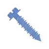 3/16 x 1 1/4 Slotted Hex Washer Concrete Screw With Drill Bit Blue Perma Seal-Bolt Demon