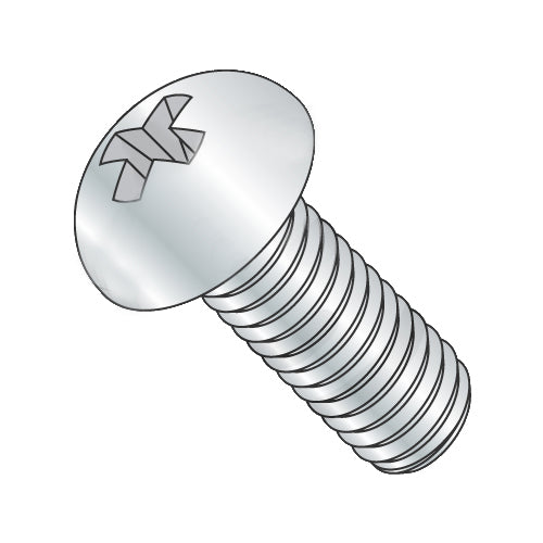 6-32 x 1/4 Phillips Round Machine Screw Fully Threaded Zinc-Bolt Demon