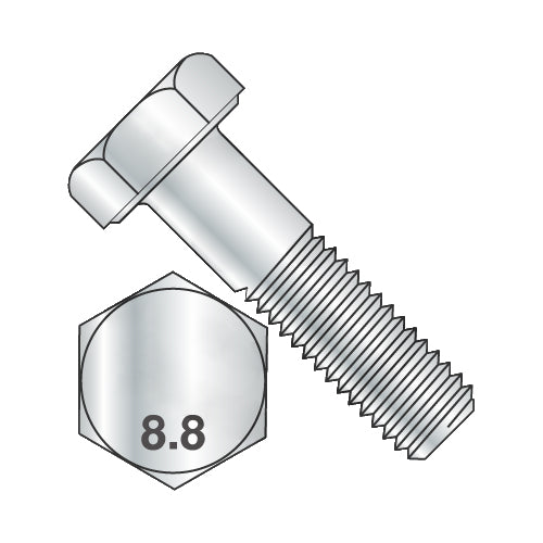 M12 x 50 DIN 931 8.8 Partially Threaded Hex Cap Screw Zinc-Bolt Demon