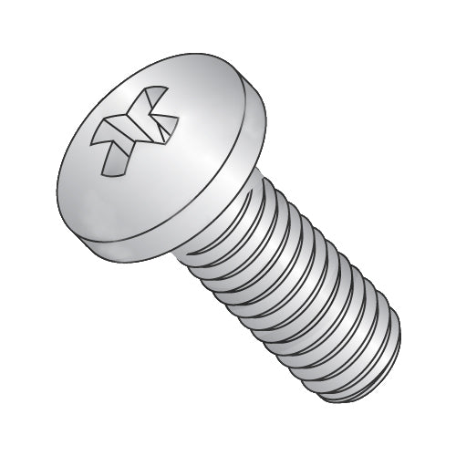 2-56 x 1/4 Phillips Pan Machine Screw Fully Threaded 410 Stainless Steel-Bolt Demon