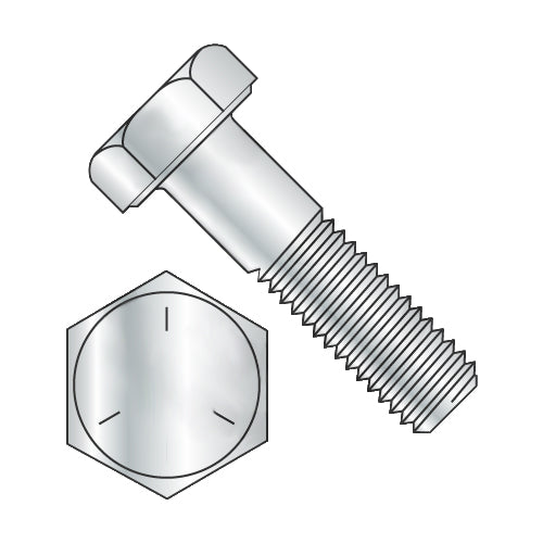 1-8 x 2 1/2 Hex Cap Screw Grade 5 Zinc-Bolt Demon