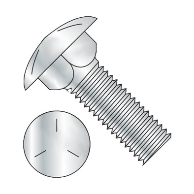 1/4-20 x 7 Carriage Bolt Grade 5 Fully Threaded Zinc-Bolt Demon