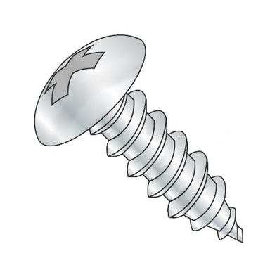 6-18 x 5/8 Phillips Full Contour Truss Self Tapping Screw Type A Full Thread Zinc-Bolt Demon