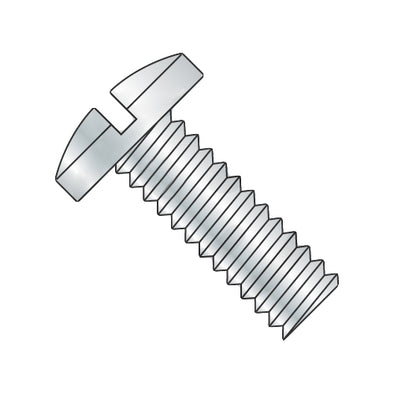 8-32 x 3/16 Slotted Binding Undercut Machine Screw Fully Threaded Zinc-Bolt Demon