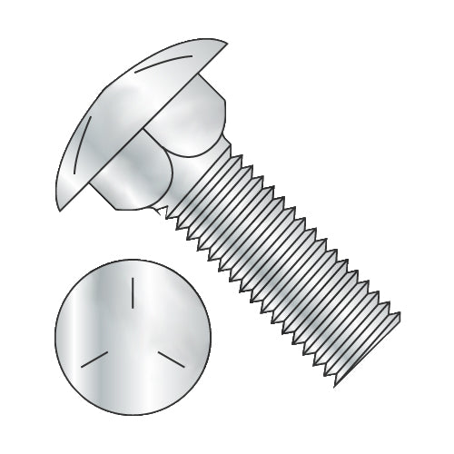 3/4-10 x 7 Carriage Bolt Grade 5 Fully Threaded Zinc-Bolt Demon