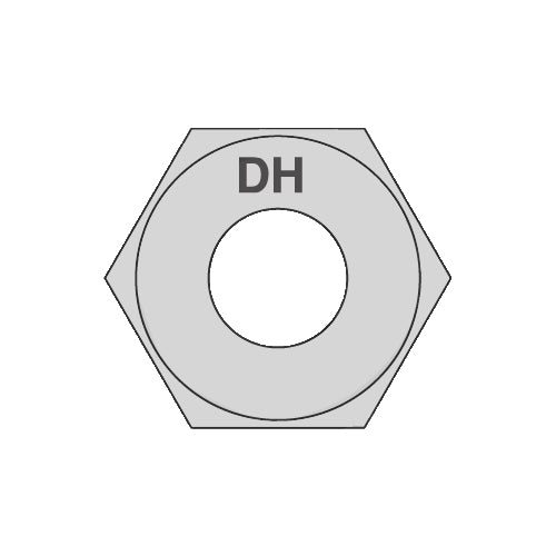 3/4-10 Heavy Hex Structural Nuts A563DHG Hot Dipped Galvanized with Lubricant Coating-Bolt Demon