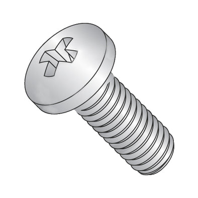 8-32 x 1/2 Phillips Pan Machine Screw Fully Threaded 410 Stainless Steel-Bolt Demon