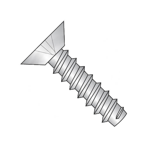 4-24 x 1/4 Phillips Flat Undercut Self Tapping Screw Type B Fully Threaded 18-8 Stainless-Bolt Demon