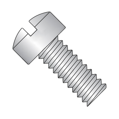 6-32 x 1 1/8 Slotted Fillister Machine Screw Fully Threaded 18-8 Stainless Steel-Bolt Demon