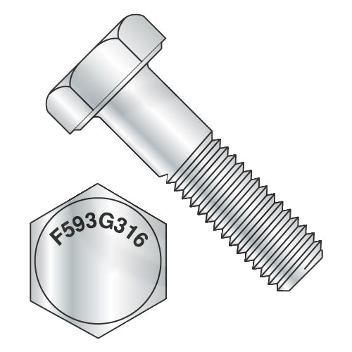 3/4-10 x 4 1/2 Hex Cap Screw 316 Stainless Steel-Bolt Demon