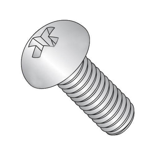 1/4-20 x 3/8 Phillips Round Machine Screw Fully Threaded 18-8 Stainless Steel-Bolt Demon