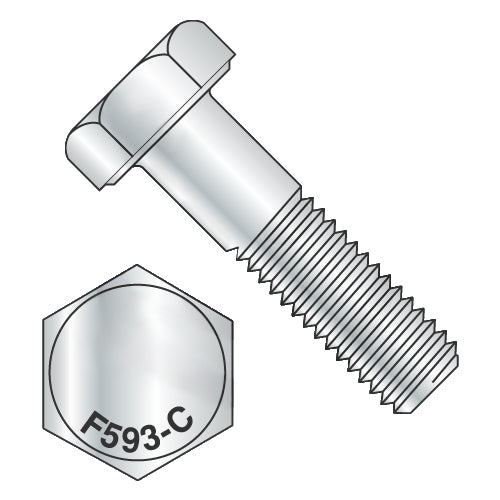 3/8-16 x 8 Hex Cap Screw 18-8 Stainless Steel-Bolt Demon