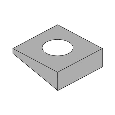 1/2 Square Beveled Washer F436 A325 A490 Plain-Bolt Demon