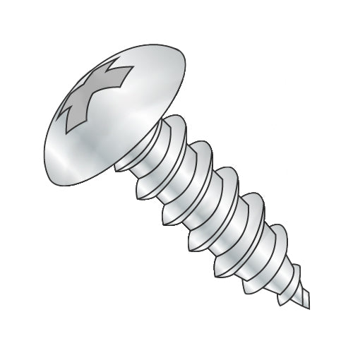 6-18 x 1 1/2 Phillips Full Contour Truss Self Tapping Screw Type A Full Thread Zinc-Bolt Demon
