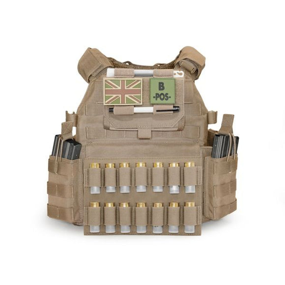 Warrior Assault Systems Double Horizontal  Breaching Shotgun Panel Coyote Tan