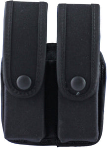Uncle Mike's 88261 Kodra Duty Nylon Web Pistol Mag Case, (for Double Glock 10mm, .45, .45 HK), Black