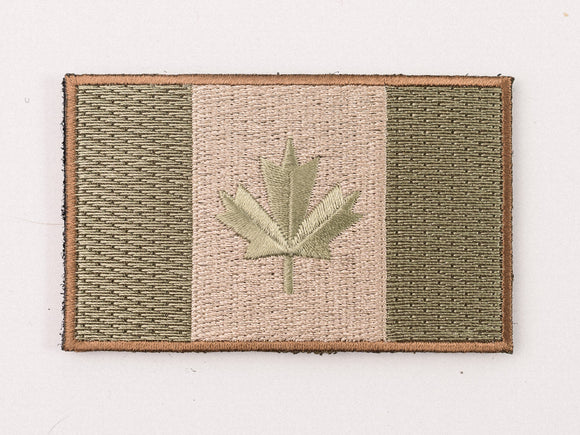 Embroidered Canada Flag (OD Green) Patch with Velcro