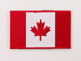 Embroidered Canada Flag (Red and White) Patch with Velcro