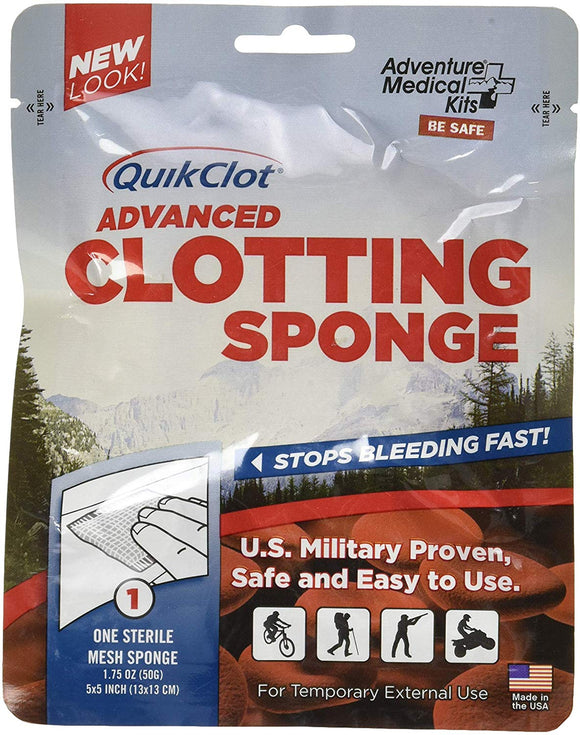 Quikclot Advanced Clotting Sponge