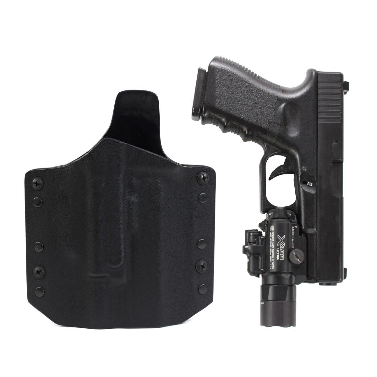 Ares Kydex Holster Glock-17/19 X300/X400 Weapon Lights – Black Bear Gear