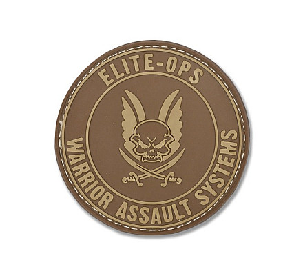 Warrior Assault Systems-Round Rubber Logo Shield Dark Earth