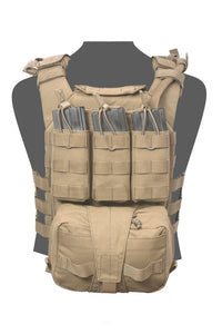 Warrior Assault System - Back panel with Med Pouch and Triple M4 5.56