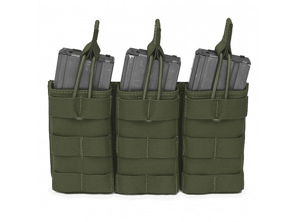 Warrior Assault Systems Triple Open 5.56MM Open Mag Pouch - Multiple colours available