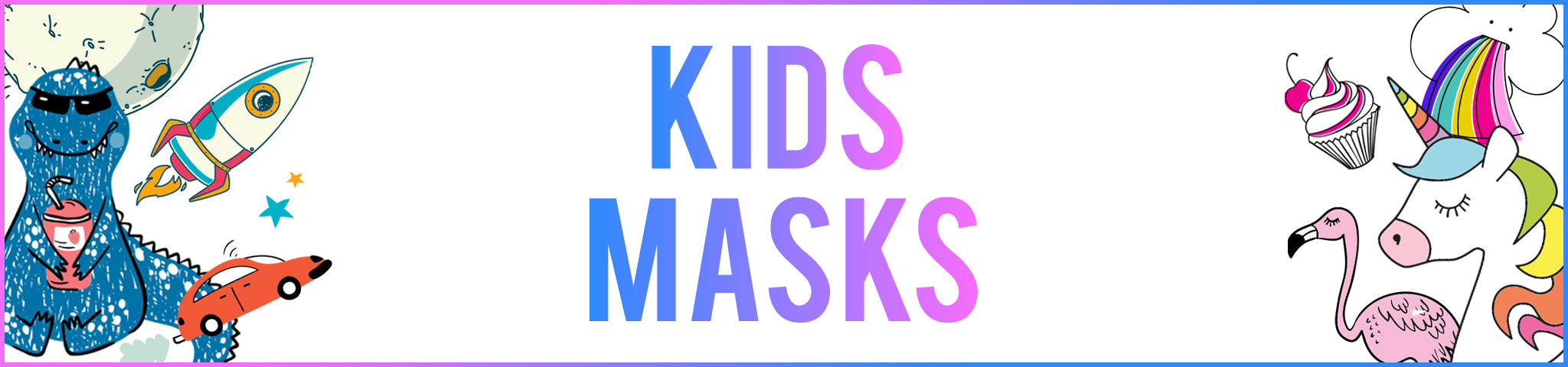 Kid's Face Masks for Children - Doodle Masks