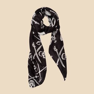 classic pirate doodle scarf