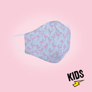 Flamingo Kid's Doodle Face Mask