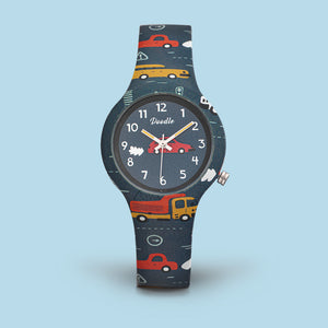 car truck kids silicon watch doodle orologio