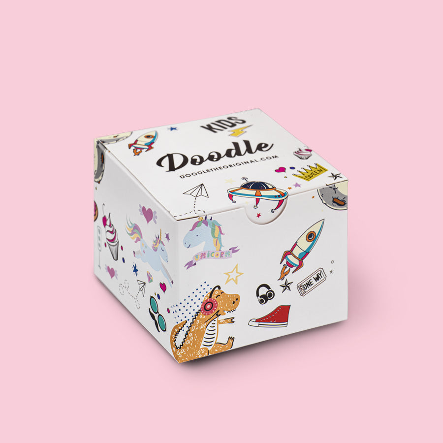 kids gift box watch doodle scatola regalo