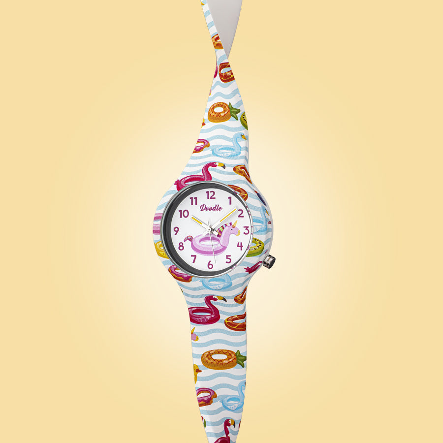 pool summer themed kids watch doodle DO32004