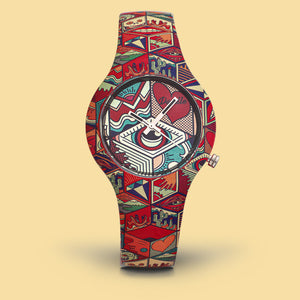 Art Patchwork women's wrist watch doodle the original