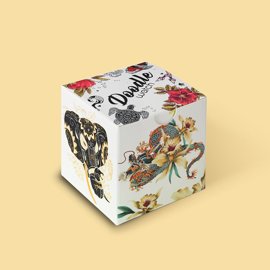 Art Patchwork ladies Gift box by Doodle the Original