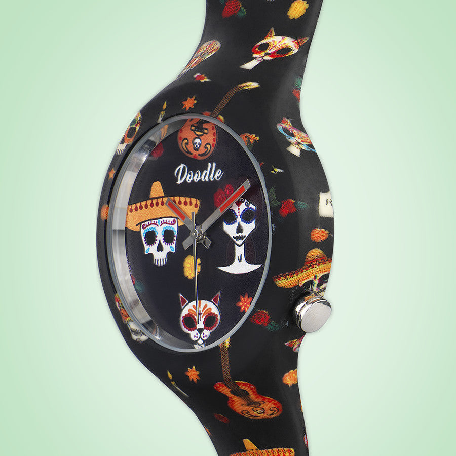 MEXICAN TATTOO WATCH - skulls - DOODLE