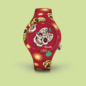 RED SKULLS DOODLE WATCHES
