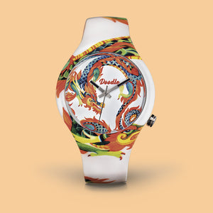 WHITE DRAGON TATTOO WATCH