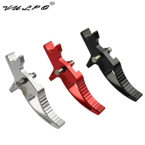 CNC Aluminum Timer trigger For M4/M16 Series Airsoft AEG BK Red Silver - JC Airsoft