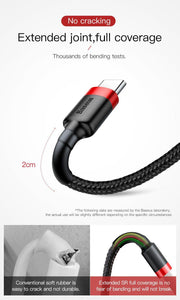 Nylon Braided Fast Charge USB-C Type Cable - JC Airsoft