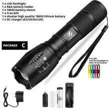 10,000lm Ultra Bright Torch Light, 5 modes, 500 meter light distance, 100,000 hour lifetime - JC Airsoft