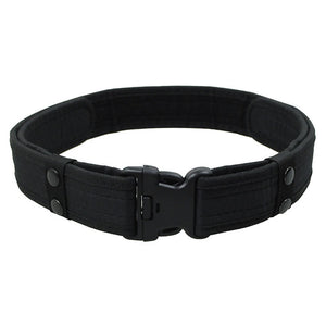 2 Inch Canvas Duty Tactical Sport Belt with Plastic Buckle Fan Hook & Loop Waistband - JC Airsoft