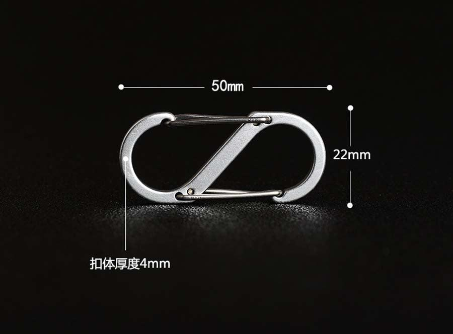 5pcs S Shape Carabiner - JC Airsoft