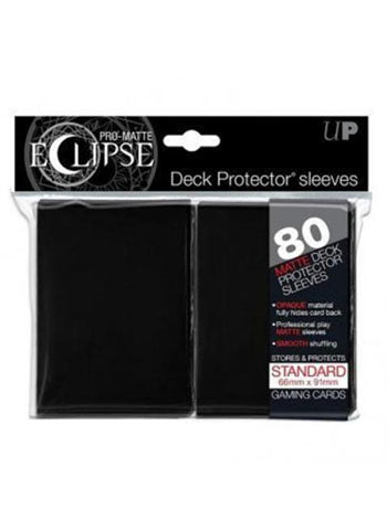 Ultra Pro: Eclipse Deck Protector Sleeves - Black Standard 80ct