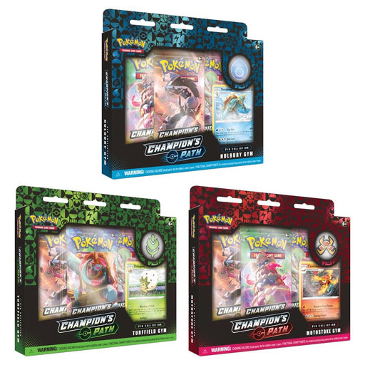 Pokemon TCG: Champion's Path Pin Collection 1 Gym Box