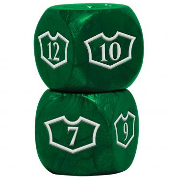 Magic the Gathering: Loyalty Set Deluxe 22mm Forest with 7-12 - Ultra Pro Dice Set (Pre-order) Q2 2021